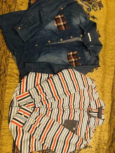 детская джинсовая рубашка в Азербайджан: Рубашки на мальчика 9-10 лет. Рубашки в отличном состоянии. Цена за