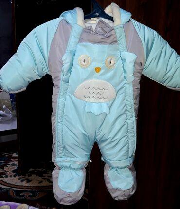 сколько стоит пескоблок в бишкеке в Кыргызстан: Продается комбинезон с капюшоном(ЗИМА) (9мес) одели на ребенка размер
