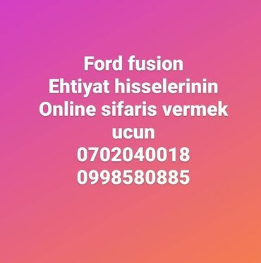 Ford fusion online sifaris