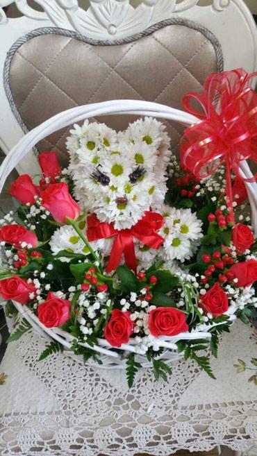 Цветы и игрушки из них.Заказ и доставка по т. в Бишкек