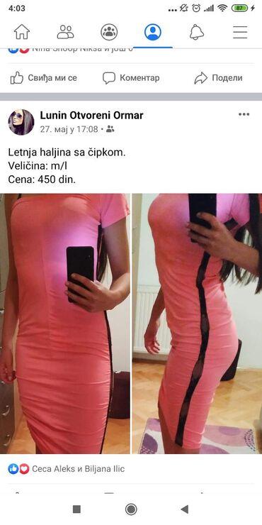 Letnja pink haljina m/l