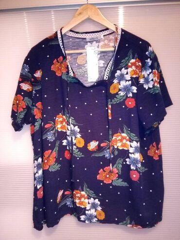 Cvetna tunika za punije dame, veličina 2xl/3xl, materijal 65% pamuk