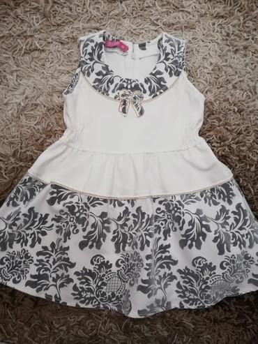 Primanella somotska haljinica - Srbija: Haljina za devojčice, velicina 86. Sivi detalji po haljini su