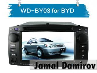 Bakı şəhərində BYD F3 üçün DVD-monitor. DVD-монитор для BYD F3. DVD-monitor for BYD F3.