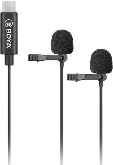 foto kamera - Azərbaycan: İkili mikrofon - Boya BY M3  Telefon, Ipad, Notebook üçün type C portl