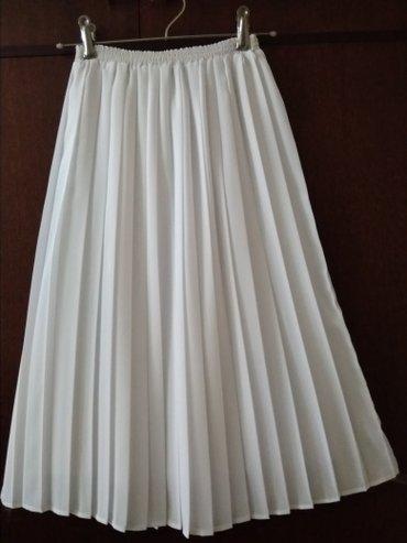 Новая плиссированная юбка из белого в Бишкек
