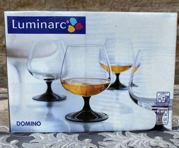 luminarc наборы посуды в Азербайджан: Luminarc fujer dəstı «Domino» 4 ədəd  Набор фужеров Luminarc «Domino»