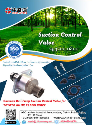 Suction control valves toyota d4d engine & john deere 6068 suction