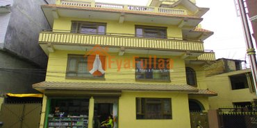 a commercial flat system house having land area 0-4-3-0 of 3.5 in Kathmandu