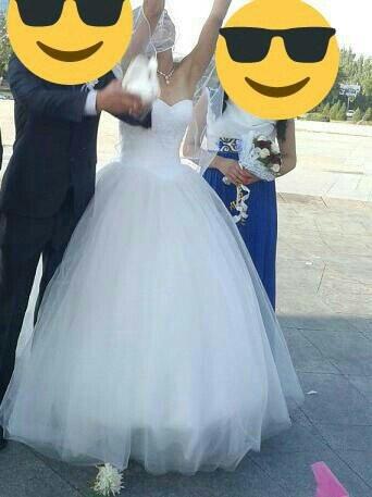 Свадебное платье с корсетом, поэтому в Кок-Ой