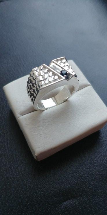 Печатка серебряная - Кыргызстан: Печатка серебрянаяразмер 19.камень натуральный сапфир размер камня