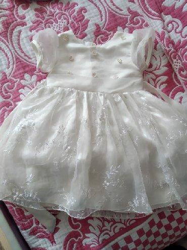 детские зимние комбинезоны бишкек в Кыргызстан: Детское нарядное платье на 1-2 . Почти новое, одели один раз на той