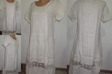 Drap lanena haljina sa cipkom - Novi Sad