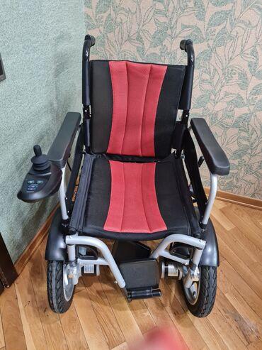 450 elan   ƏLIL ARABALARI: Продается инвалидная коляска с пультом . Куплена месяц назад, почти н