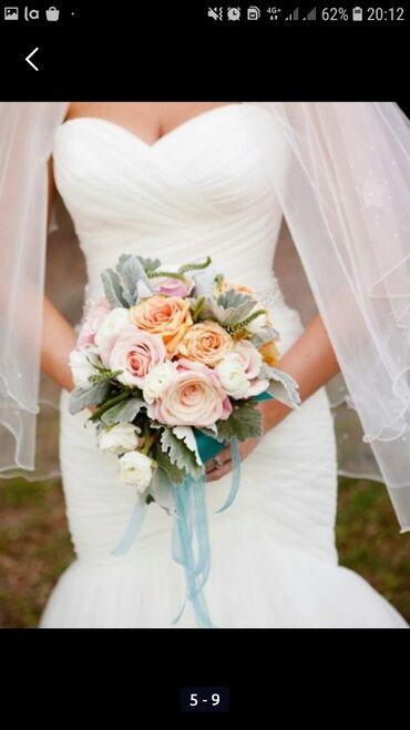 Роскошное свадебное платье рыбка ( русалка ). американский бренд