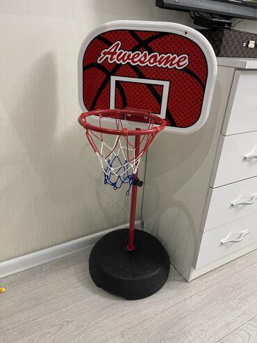 Продам баскетбольную стойку с кольцом! Для детей ! Увеличивается до