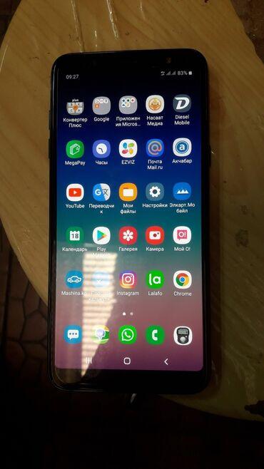 samsung a6 в Кыргызстан: Б/у Samsung Galaxy A6 Plus 32 ГБ Черный