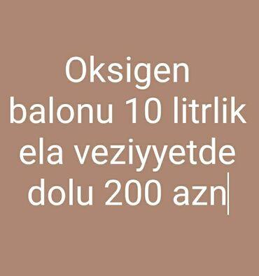 arendaya verirəm - Azərbaycan: Oksigen balonu arendaya verlir