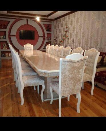 qizil klonlar ve qiymetleri в Азербайджан: 12eded stul ve iki stol qiymetleri 1100azn catdirma qurasdirma pulsuz