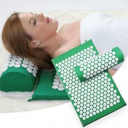 Массажный коврик с массажной подушкой. Отлично снимает стресс, боли и