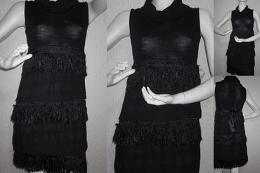 Crna haljina sa resama - Novi Sad