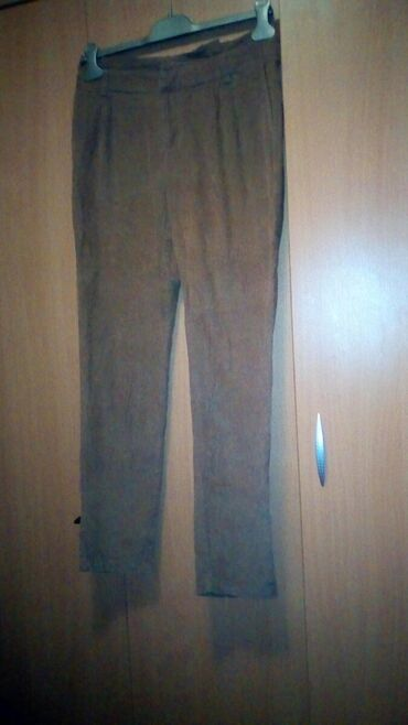 Braon somot pantalone - Srbija: Izuzetne! Meni male, jednom nosene. Predivno, svetlo braon pantalone
