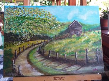 Kuća i bašta | Senta: Slika 25x35 akril na platnu 4000.00din
