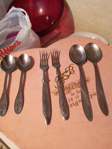 Кухонные принадлежности в Токмак: Ложки, вилки чайные ложки-нержавейка