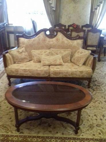 деревянный комод в Азербайджан: Мебельный комплект Классика .Диван + 2 кресла,журнальный столик
