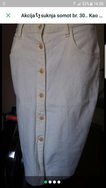 Suknja somot, krem boje - Trstenik