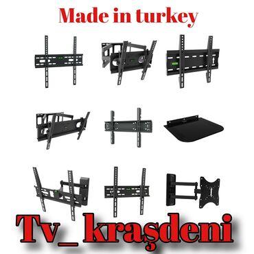 Tv asılqan tv kraşdeni tv pristafka her ölçüye uyğun var qiymet ölçüye