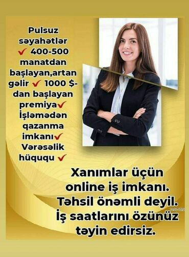 Əməkdaş axtarışı (vakansiyalar) - Azərbaycan: Şəbəkə marketinqi məsləhətçisi. Oriflame. İstənilən yaş. 3/1