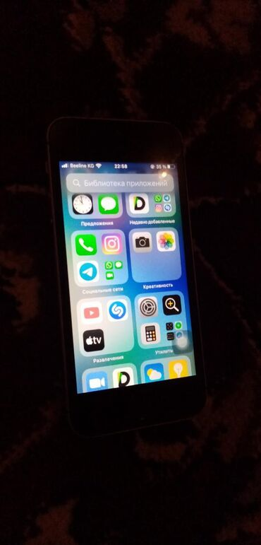 Б/У iPhone SE 16 ГБ Серый (Space Gray)