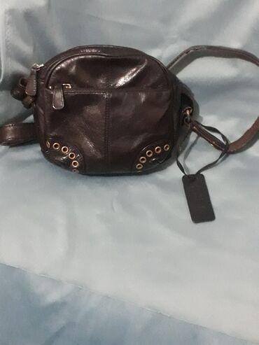 Кожаная брендовая сумка,Можно носить на длинном ремешке,Можно как на