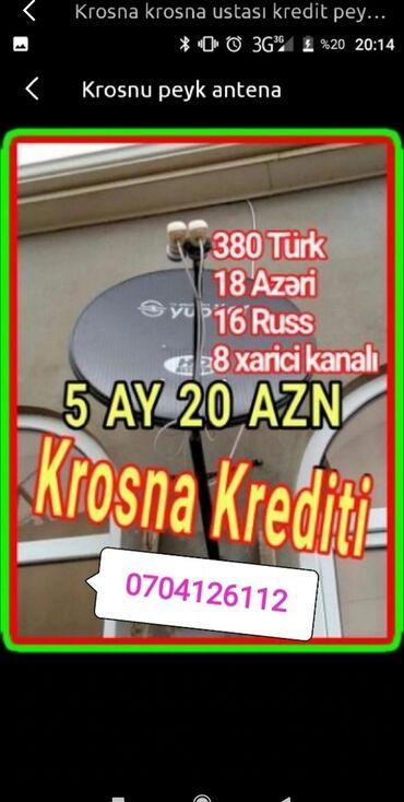 peyk - Azərbaycan: Peyk antena Krosna Krosnu kreditle və nəğd quraşdırılması və ustası