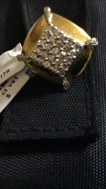 Bakı şəhərində продаю брильянтовое кольцо. 0,78 карат брильянт;  8,51 грам золото; 75