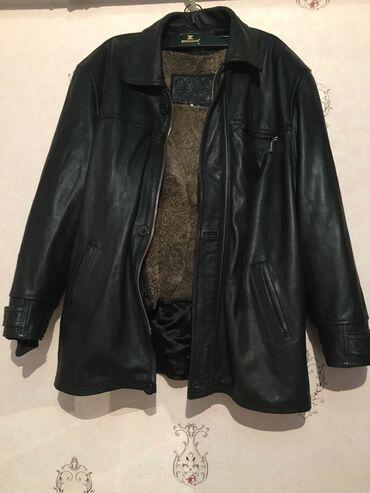 Мужская кожаная куртка,размер XXL,состояние 9/10,мех внутри снимается