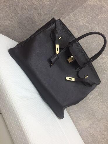 Кожаная сумка,полностью кожа. Коричневая,большая!Hermès! Состояние