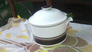 prelepa porcelanska serpica za serviranje, bez oštećenja  - Cuprija - slika 2