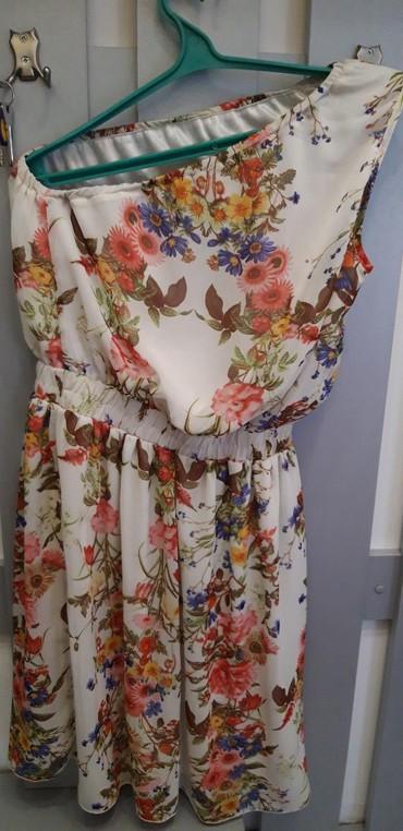 Летнее платье 44-46 размер. на одно плечо. в Бишкек