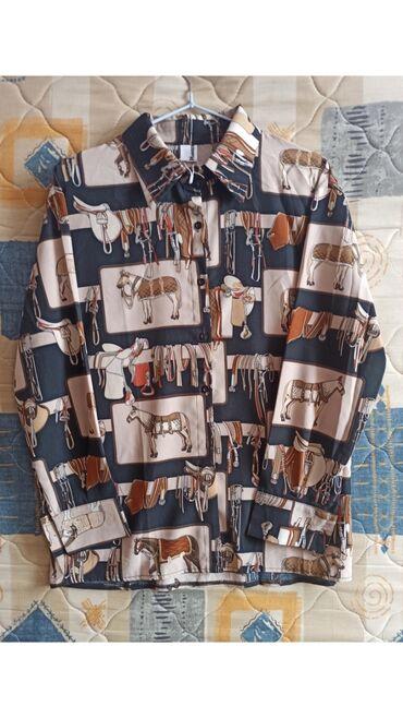 Новая женская рубашка с рисунком! Размер стандарт
