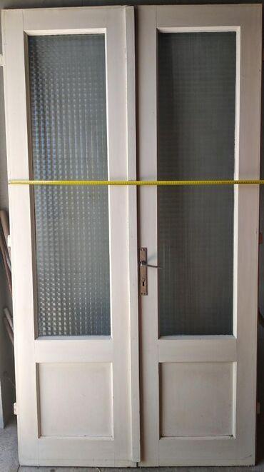 Materijali za izgradnju i popravke - Srbija: Velika dvokrilna vrata 217cm*117cm*4,5cm debljine 1500 din
