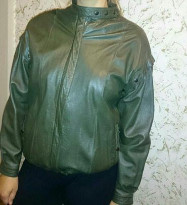 Kožna jakna ženska- prirodna koža,veličina 40-42. Boja tamno - Ruma