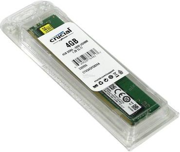 Təzə Ram DDR4 4gb 2400 Crucial Rəsmi Zəmanətlə, Orginal, -- 65m в Bakı