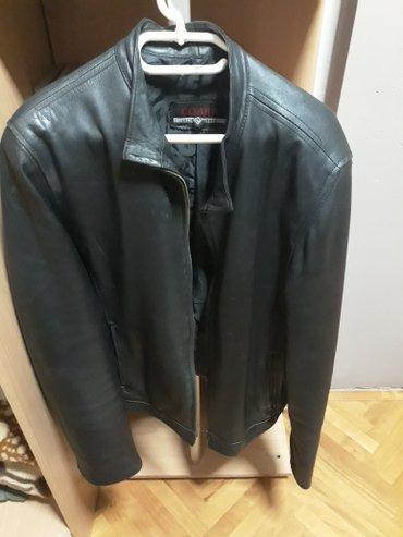 Crna muska kozna jakna L velicina moguc dogovor oko cene - Nis