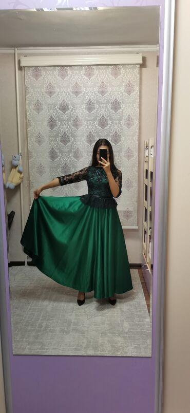 вечернее платье ручной работы в Кыргызстан: Шикарное платье изумрудного цвета ручной работы. Сщито на заказ