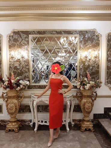 Продаю платье, размер 42-44 (S), цвет красный, цена 700 сом