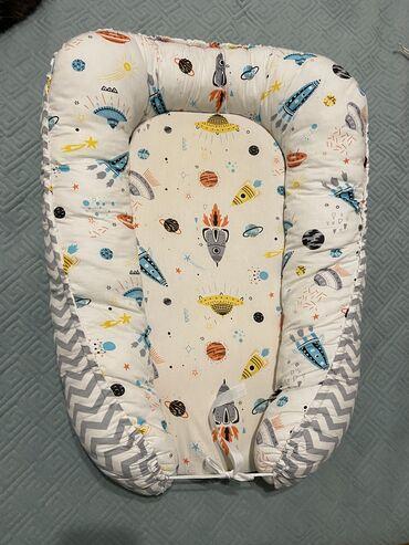 кокон для новорожденных бишкек in Кыргызстан   ДРУГИЕ ДЕТСКИЕ ВЕЩИ: Кокон, состояние хорошее. Подушка в подарок)