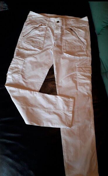 Pantalone tifany kroj - Srbija: STEFANEL L-XL(Eu-42,I-46)Jako lepe bele pantaloneTanji pamuk(98%)Ravan