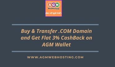 Buy and Transfer .COM Domain Via bank Transfer and Get flat 3%